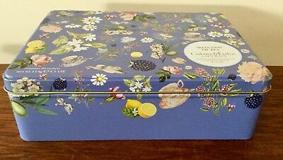Crabtree & Evelyn London Tea Tin Fruits Flowers Cup Of Tea And Animals Theme