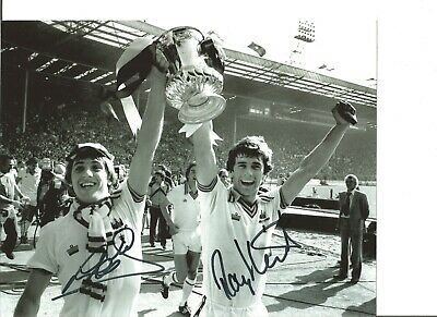 Football Autograph Geoff Pike & Ray Stewart Signed 10x8 inch Photograph JM173