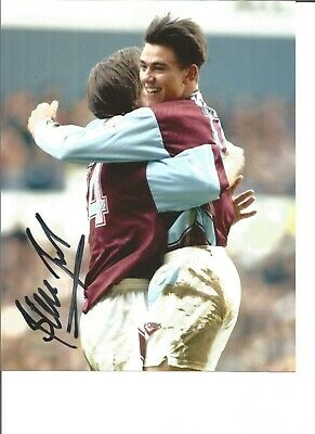 Football Autograph Steve Jones West Ham United Signed 10x8 inch Photograph JM177