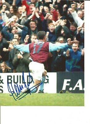 Football Autograph Steve Jones West Ham United Signed 10x8 inch Photograph JM179
