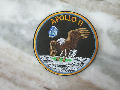 Apollo 11 Mission Space Nasa Eagle Moon Embroidered 4 Inch Round Patch