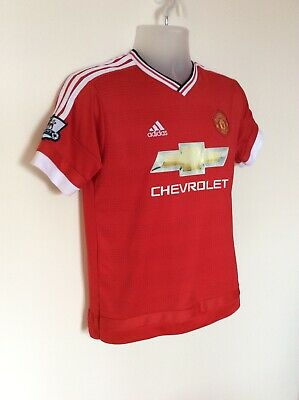 MANCHESTER UNITED HOME SHIRT 2015-2016 MEMPHIS 7, SMALL ADIDAS. Official Item,