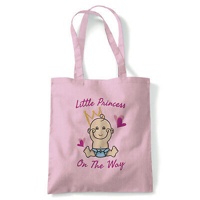 Little Princess On The Way Mum to Be Tote - Reusable Shopping Canvas Bag Gift