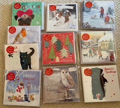 Joblot Wholesale Quality Christmas Card Packs X 10 Sealed RRP £2.99