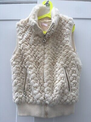 Girls Matthew Williamson Cream Furry Gilet Age 10