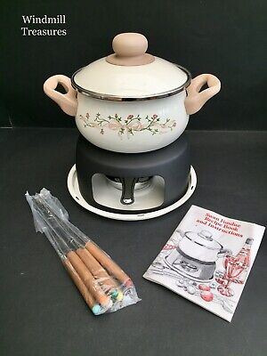 Swan Johnson Brothers Eternal Beau Fondue Set - In Box - Never Used