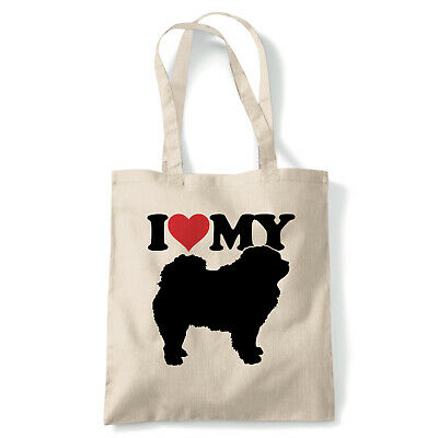 I Love My Chow Chow Tote - Reusable Shopping Canvas Bag Gift