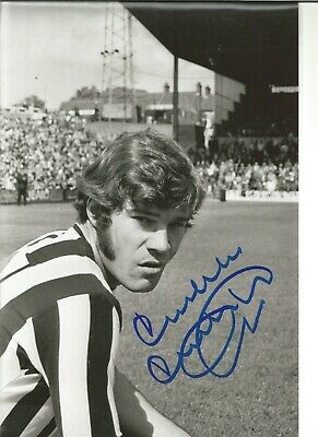 Football Autograph Malcolm McDonald Newcastle United Signed 12x8 in Photo JM218