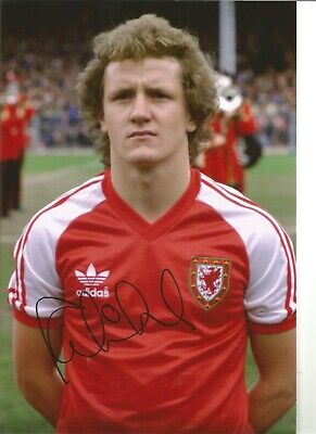 Football Autograph Peter Nicholas Wales Signed 12x8 inch Photograph JM225