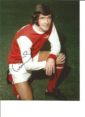 Football Autograph Peter Storey Arsenal FC Signed 10x8 inch Photograph JM236