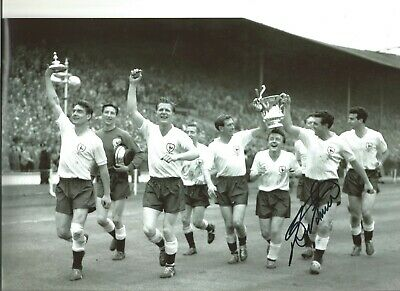 Football Autograph Bobby Smith Spurs Tottenham Signed 12x8 inch Photograph JM248