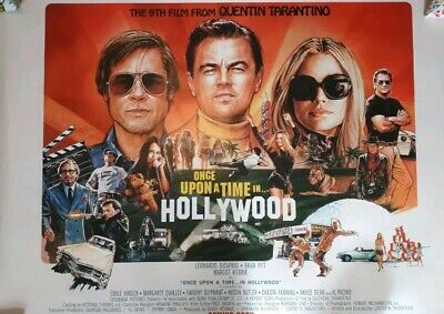 Once Upon A Time In Hollywood Rare Double Sided Cinema Quad Poster