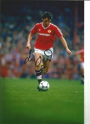 Football Autograph Peter Davenport Manchester United Signed 12x8 in Photo JM257