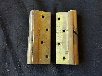 """Reclaimed Antique Pair of Bronze 4"""" Victorian Rise & Fall Hinges (EB326)"""
