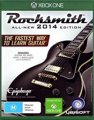 Rocksmith 2014 Edition with Real Tone Cable Xbox One NEW SEALED DISPATCH 2 P.M.