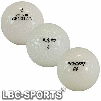 100 Bianco Mix Cristallo Palline da Golf AAAA - AAA Lakeballs Optic Ghiaccio