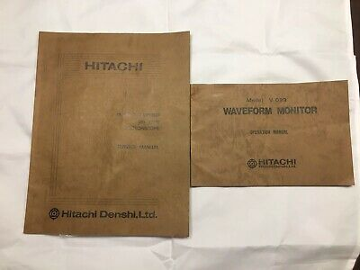 Hitschi VO99 And VO89 Wfm and Vectorscope Manuals