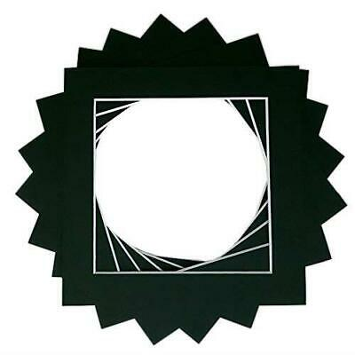 Pack Of 10 Black Instagram Square Bespoke Computer Cut Photo Mounts/Picture - -