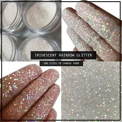 Rainbow Effect Glitter Nail Powder Dust Pigment Gel Acrylic Kit Fine Iridescent