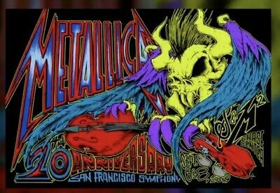 Metallica San Francisco Symphony S&M2 Poster Squindo 09/06 08/19 Chase S&M 2 LED