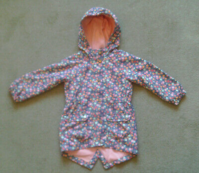 Mothercare Girls Hooded Coat in Pretty Floral Pattern Age 2 - 3 Years