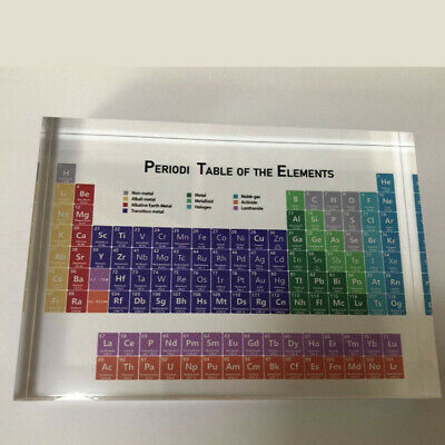 Chemical Acrylic Periodic Table Display Board With Real Elements Ornament Gift