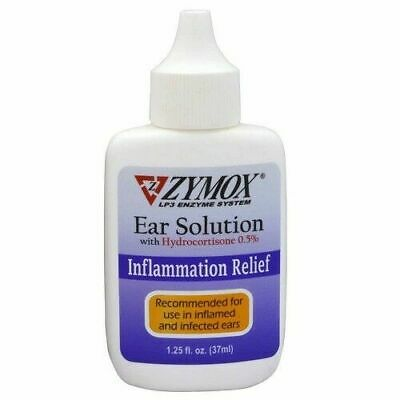 Zymox Pet King Ear Solution Hydrocortisone Cleansing Treatment 1.25oz (05/22)