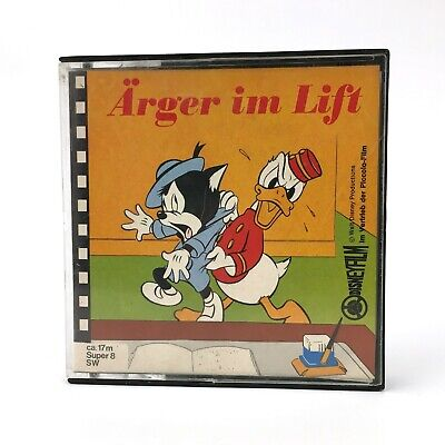 ARGER IM LIFT · DONALD DUCK  WALT DISNEY / PICCOLO FILM ca 17m VINTAGE Super8 SW