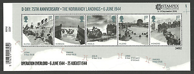 2019 STAMPEX OVERPRINT D-DAY LANDINGS M/S LIMITED EDITION of only 7500 UM