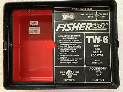 Fisher Tw-6 Pipe And Cable Locator - One Box - Just The Transmitter - Used