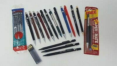 LOT OF 21 MECHANICAL DRAWING DRAFTING PENCILS LEAD HOLDERS 0.05 Some Vintage
