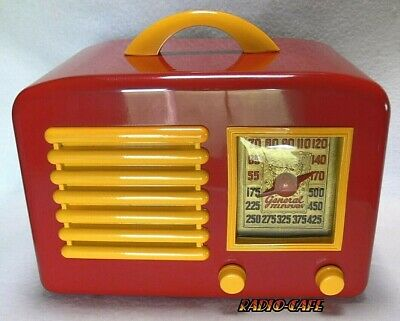 Incredible 1946 General Television Tube Radio * 1 Of A Kind Eye Candy Gem! L👀K!