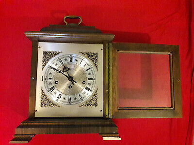 Vintage HAMILTON Table Clock Model 340-020 Made in Germany 2 Jewels