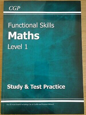 Functional Skills Maths Level 1 Study & Test Practice Book by CGP