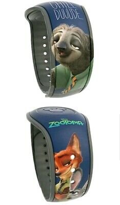NEW Disney Parks Zootopia Flash Judy Hopps Nick Wilde Magic Band 2 LINKABLE