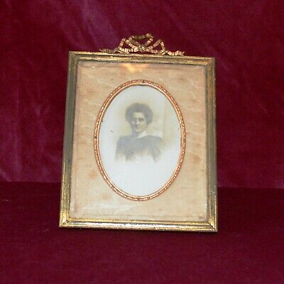 Antique Victorian Gilt Brass French Ornate Small Photograph Frame