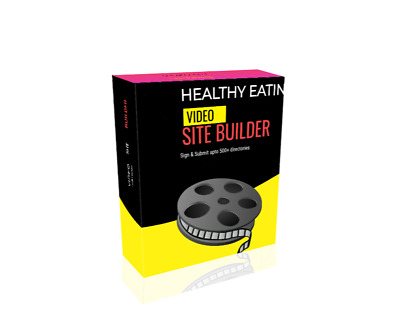 Healthy Eating Video Site Builder Software   instant download