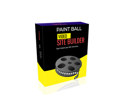 Paint Ball Video Site Builder Software   instant download