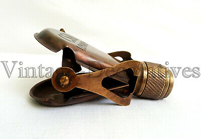 Antique Vintage Brass Monocular Marine CSA London Engraved Binocular Pocket Gift