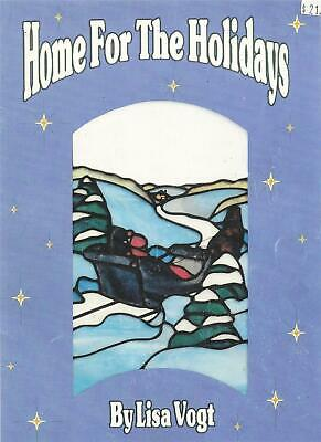 Home For The Holidays Stained Glass Book Lisa Vogt - Nativity, Angels, Ornaments