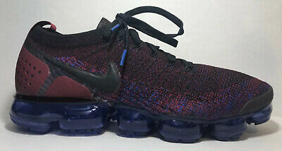 NEW Nike Vapormax 942842-006 Flyknit Team Red Racer Blue Sneakers 11.5 NR