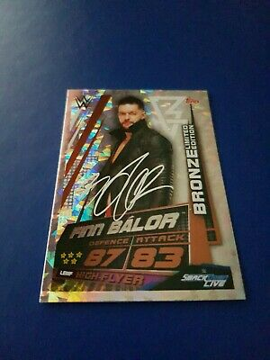 WWE Slam Attax Universe Finn Balor Bronze Limited Edition Card
