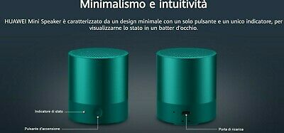 HUAWEI CM510 - COPPIA DI MINI SPEAKER BLUETOOTH - 2 SPEAKER colore Emerald Green