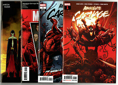 Absolute Carnage #1-2 + Extras (2019) Marvel VF/NM to NM