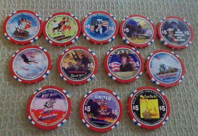 RAMADA EXPRESS HOTEL CASINO COLLECTION OF 12 LTD ED CHIPS w/COA ~ Laughlin, NV