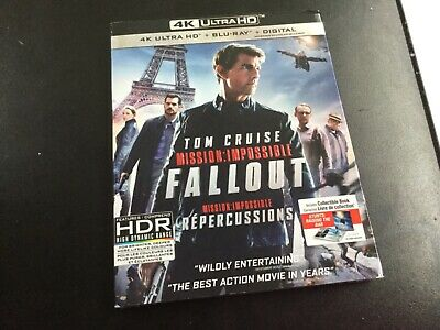 Mission Impossible Fallout ( 4Kultra Hd+Blu-Ray+Digital  ) Brand New Sealed