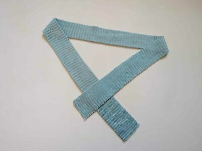 Aqua, Light Blue Knitted Tie - 1920s