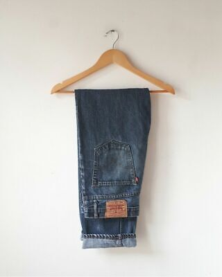 Vintage Levi's 501 Big E Blue Washed Jeans 32 X 32 vaqueros tejanos huge whisker