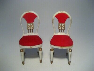 Vintage Dollhouse Furniture Ideal Petite Princess Guest Dining Chairs Lot Of 2