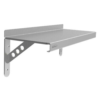 Stainless Steel Shelf with Heavy Duty Brackets Commercial Kitchen Garage Shelves